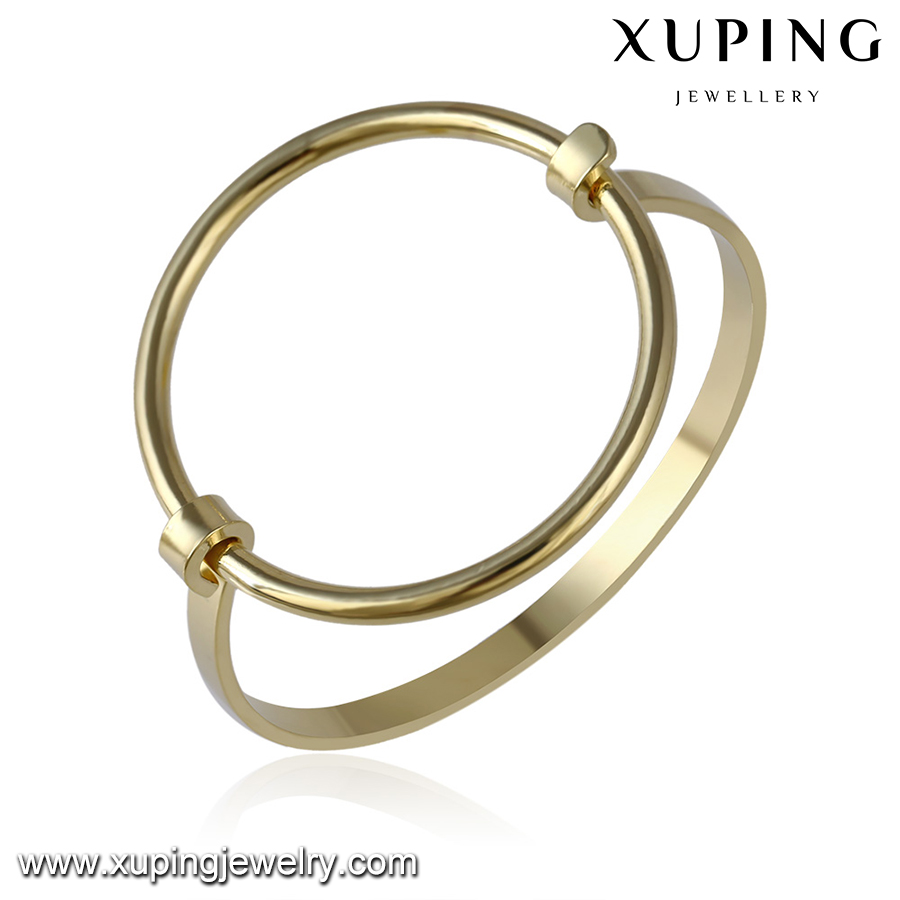 51648-14k gold plated jewelry new baby bangles designs in gold