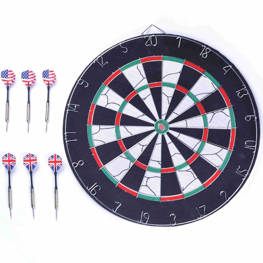 17 Inches Dartboard With 6 Darts Indoor Sport Toys