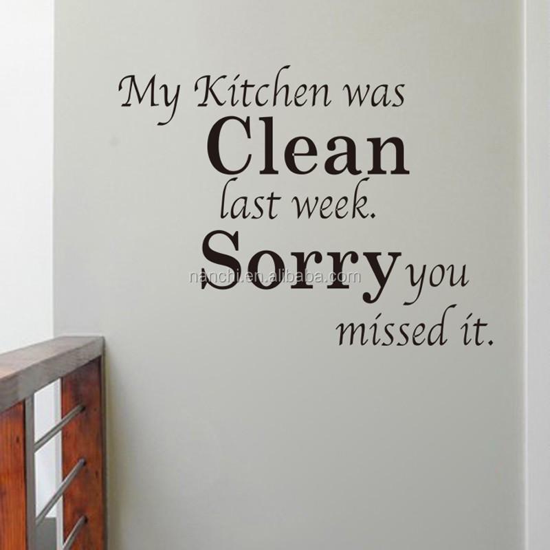 Spreuken Voor Op De Muur.Keuken Schoon Engels Spreuken Stickers Diy Keuken Muur Sticker