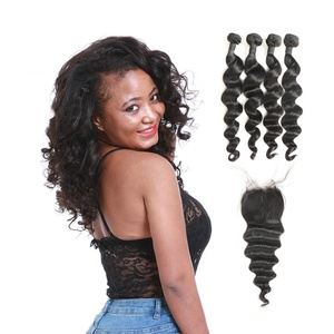 pre plucked 3d 100% human top quality lace closures brazilian hair hand tied 3 part middle parting closure loose wave