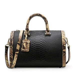 Good Price Of genuine snake leather wallet fur handbag women fashion lady tote bag