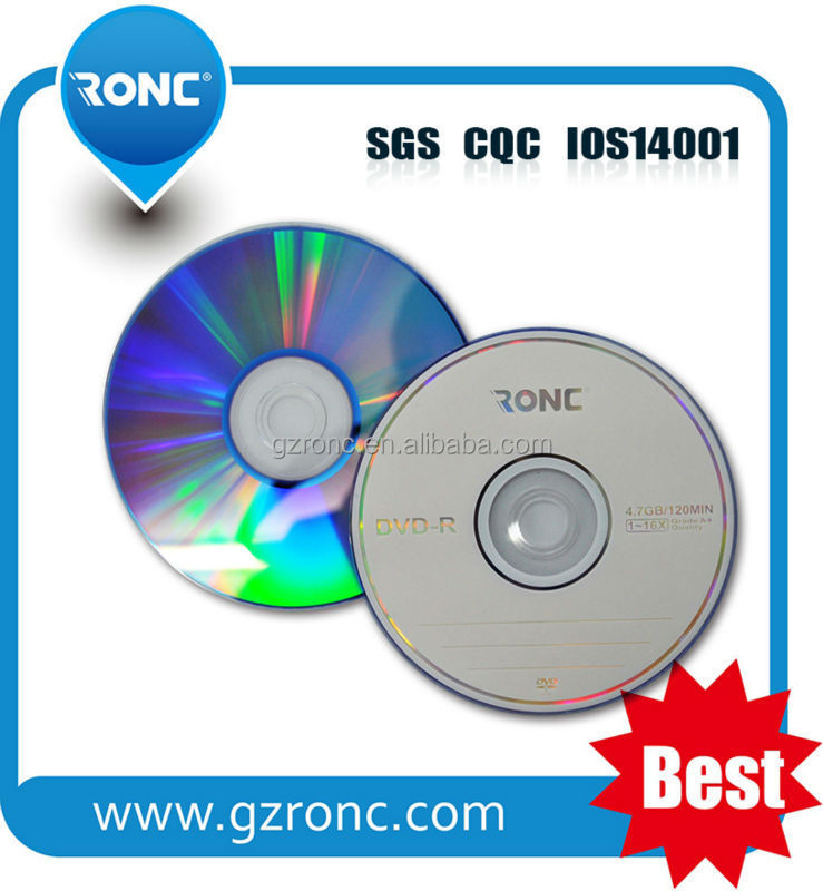 High Recording Speed 4.7gb 16x A Grade cd-r dvd-r with Offset or Screen Printing Blank dvd-r