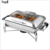 Hotel restaurant supplies catering buffet  commercial 9L  induction hydraulic stainless steel silver plated chafing dish
