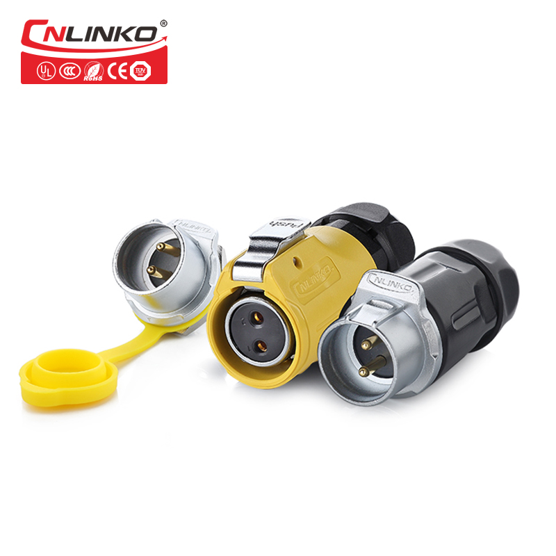 Cnlinko cable gland supplier waterproof IP67 120v 2 pin panel mounted quick connect audio power connector