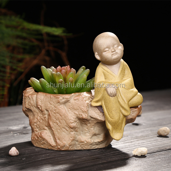 Desktop Decoration Figure Little Monk Bonsai Pots Wholesale