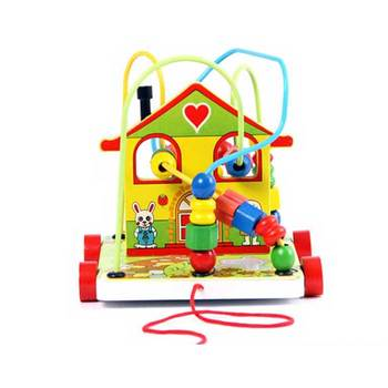 Learning House Baby Children Play Maze Educational Wooden House Toy