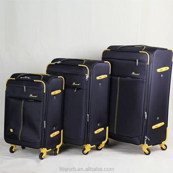 Best Price 4 Piece Expandable Spinner Polyester Soft Luggage Set ...