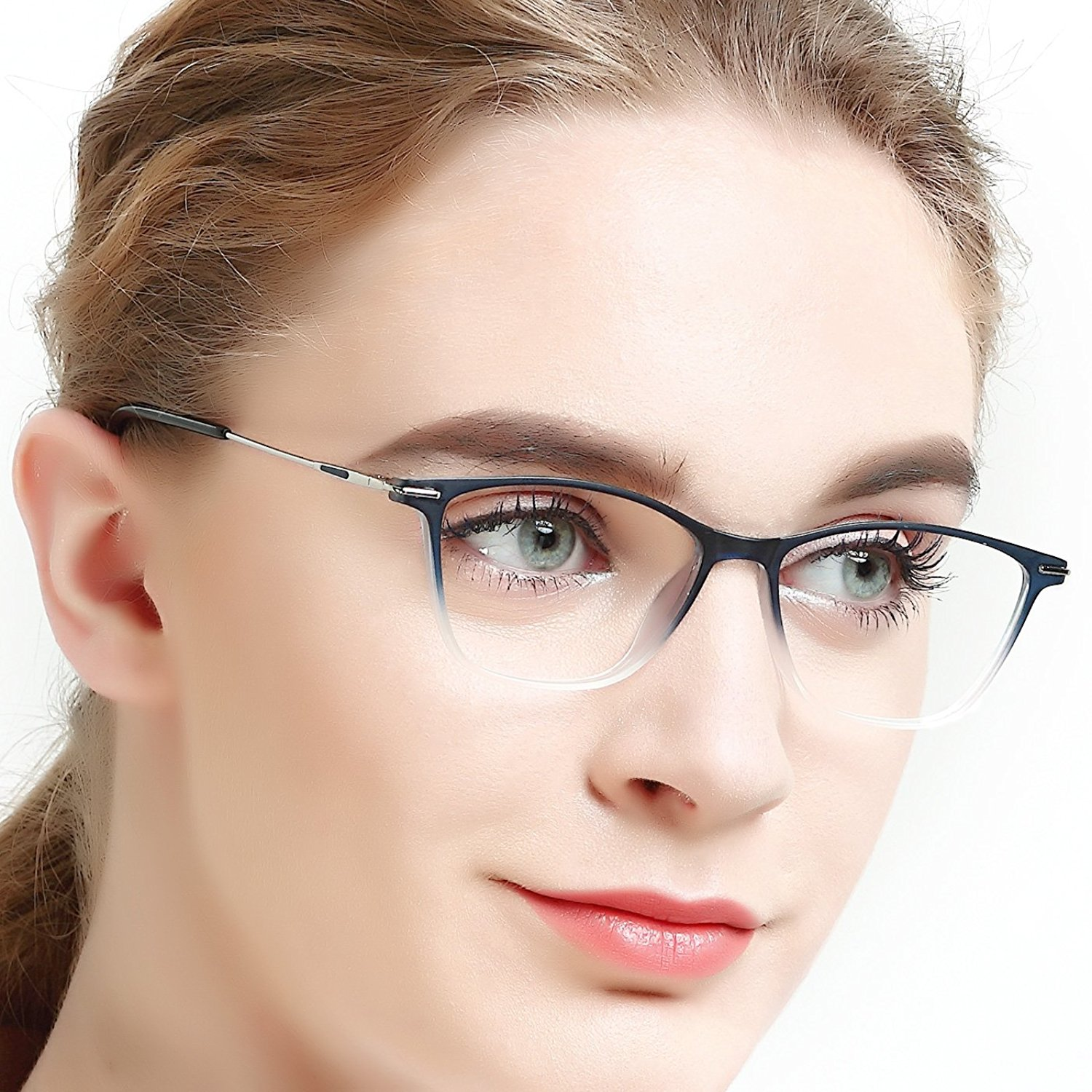 0b4a8f8814 Get Quotations · Eyewear Frames-OCCI CHIARI-Rectangle Lightweight Non-Prescription  Eyeglasses Frame with Clear Lenses