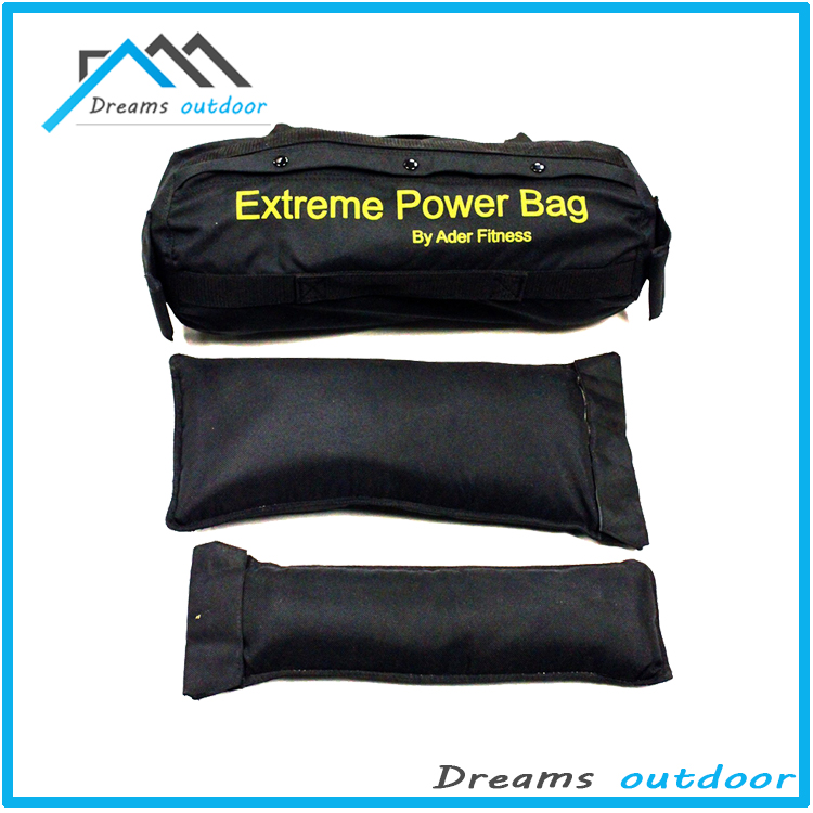 Athletics Black Sandbag Training Fitness Workout System - Heavy Duty Crossfit Sandbag with Seven Handles