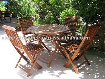 Table Hexagonale Avec 4 Chaises Pliantes,Ensemble De Jardin,Mobilier  D\'extérieur,Meubles De Jardin - Buy Mobilier D\'extérieur,Mobilier De ...