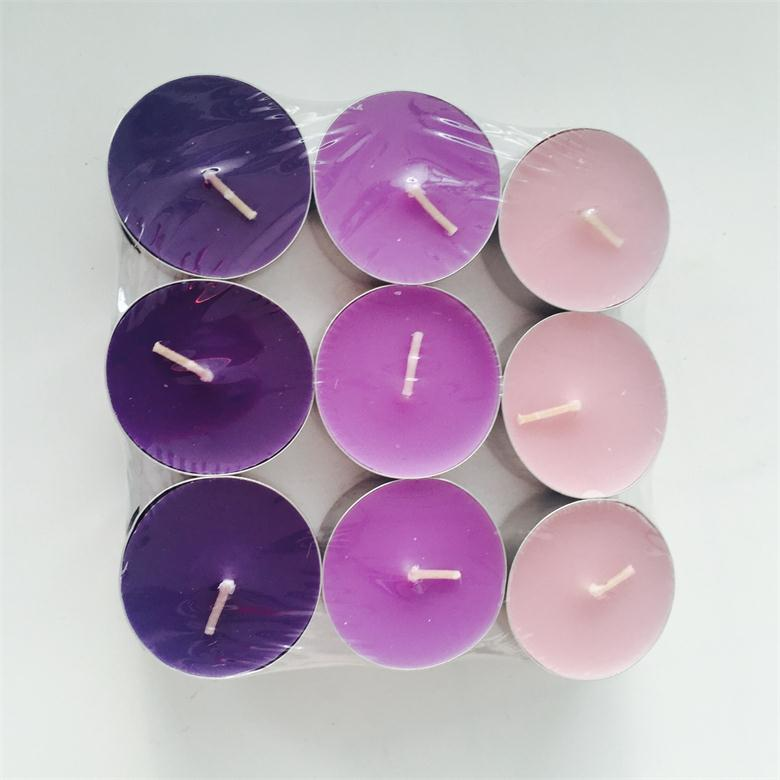 Lavender Series Multi Colored Soft Fragrances Tealight Candle On Sale