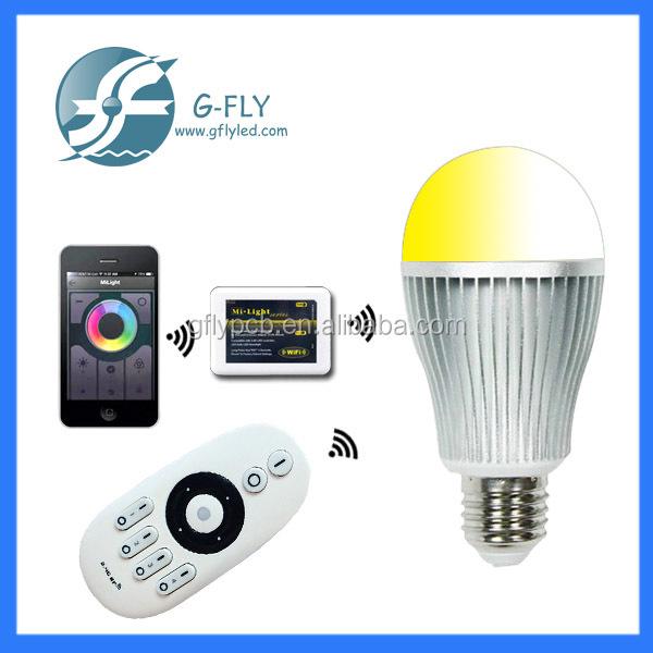 2.4g Led Daylight Bulbs Wifi E27 9w Led Color Light Bulbs Rgbw ...