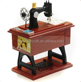 Valentine's Day Gift Vintage Sewing Machine Music Box For Wedding Beauteous Sewing Machine Music Box