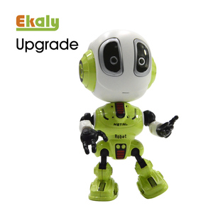 Alloy travel talking educational toy die cast intelligent mini recording robotic new smart metal robot toys for kids