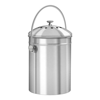 Factory Direct Sell Indoor Countertop Kitchen Recycling Bin Pail Kitchen Compost Bin with Filter Garden Compost Bin