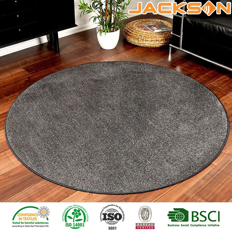 2016 new arrive custom round area floor simple carpet
