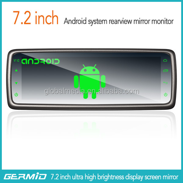 2015 Newest germid 7.2 inch rearview mirror system,GPS Navigation ,1080P DVR,reverse car camera