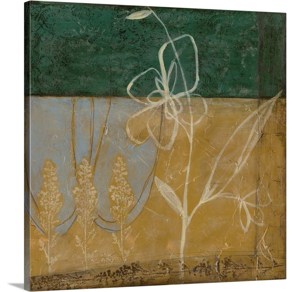 "Gallery-Wrapped Canvas Entitled Pressed Wildflowers II by Jennifer Goldberger 16""x16"""
