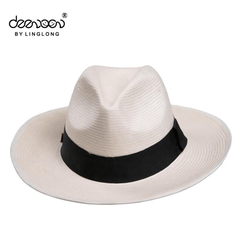 Maschio Bianco Cappello di Paglia Panama Cina All ingrosso cappelli Uomo Cappello  Panama 2a5eec9c9823