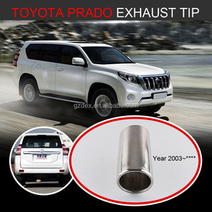 auto tuning stainless muffler tip in exhaust pipe for TOYOT A PRADO