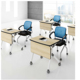Low Price Modern Training Room Tables Panel Top Metal Support Folding Training Table