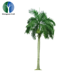 Tropic region Artificial king coconut palm tree trunks and tops