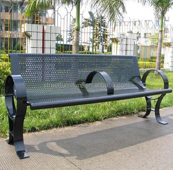 Powder Coated Steel Street Furniture Metal Park Garden Bench Ends