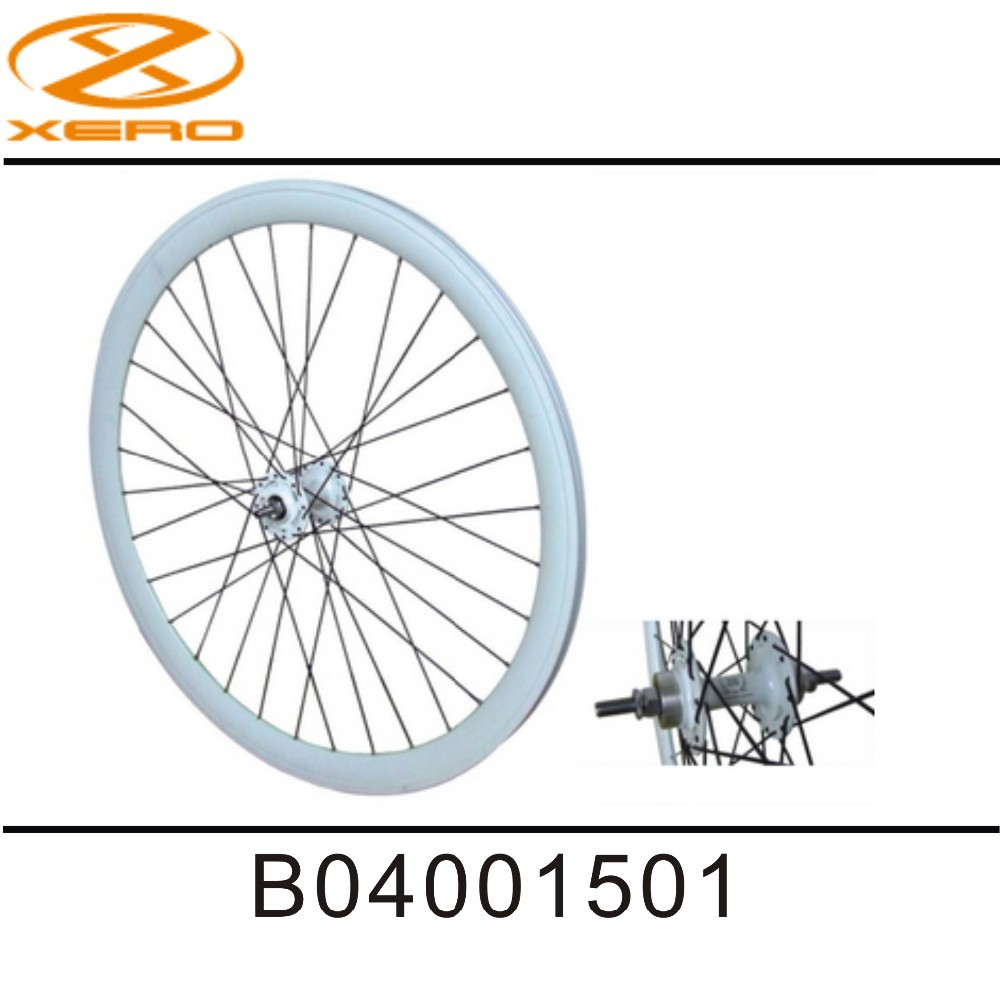BORITA 700C CNC Rims white color Flip - Flop wheels