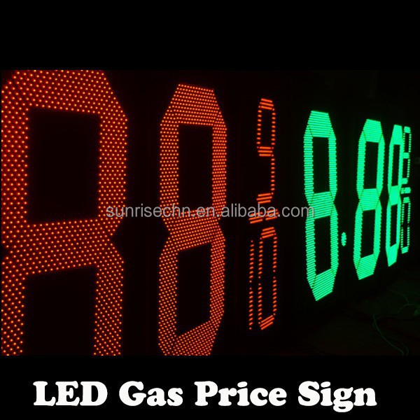 hot sell LED gas price sign,price led :outdoor waterproof gas station pylon sign