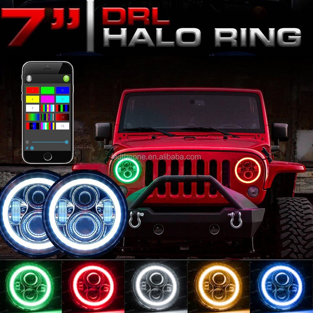 Jeep Wrangler RGB Angel Eye de Halo 7 \