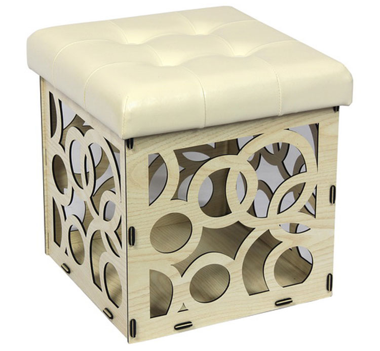 Awe Inspiring Mdf Wooden Storage Ottoman Stool With Leather Seat Cushion Buy Stool Ottoman Stool Storage Ottoman Stool Product On Alibaba Com Machost Co Dining Chair Design Ideas Machostcouk