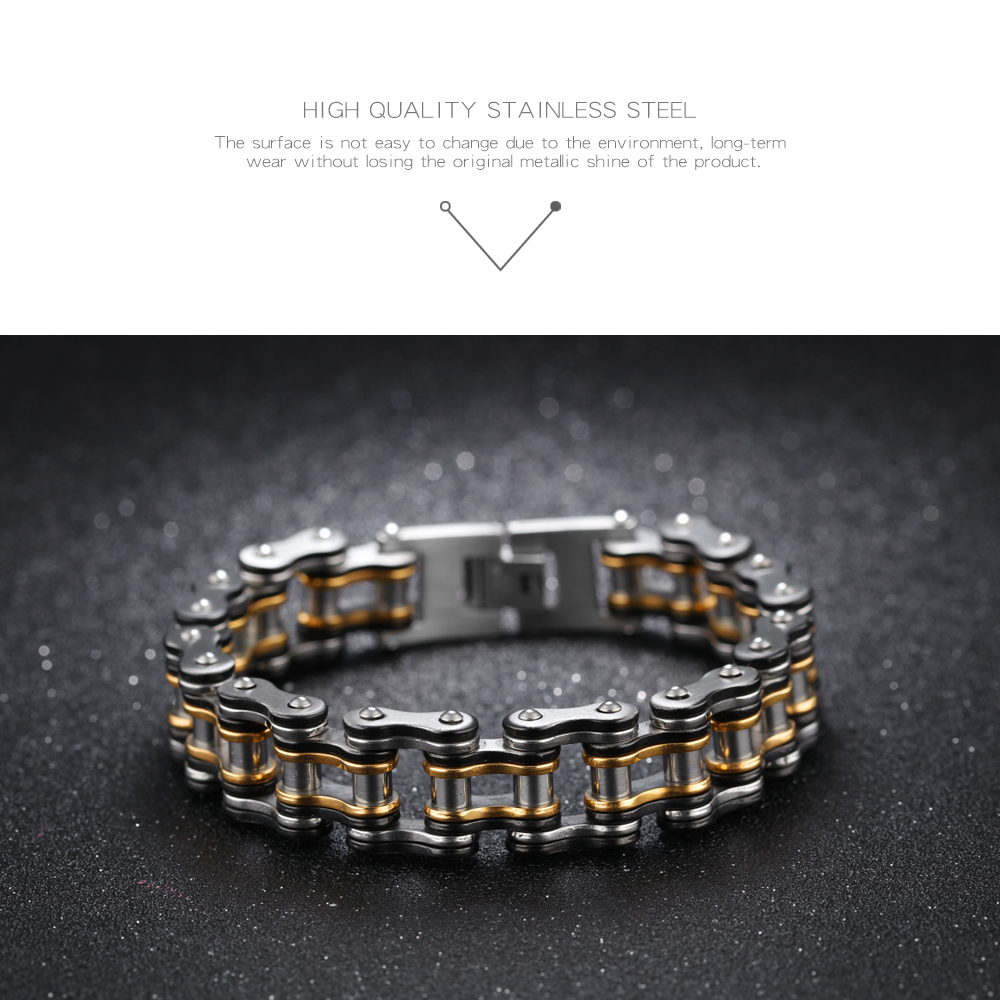 New Product Wholesale Stainless Steel Jewelry Link Chain Bike Chain Bracelets For Men