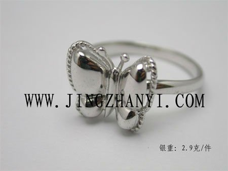 wholesale china costume jewely ,butterfly shape ring,925 sterling silver elegant rings