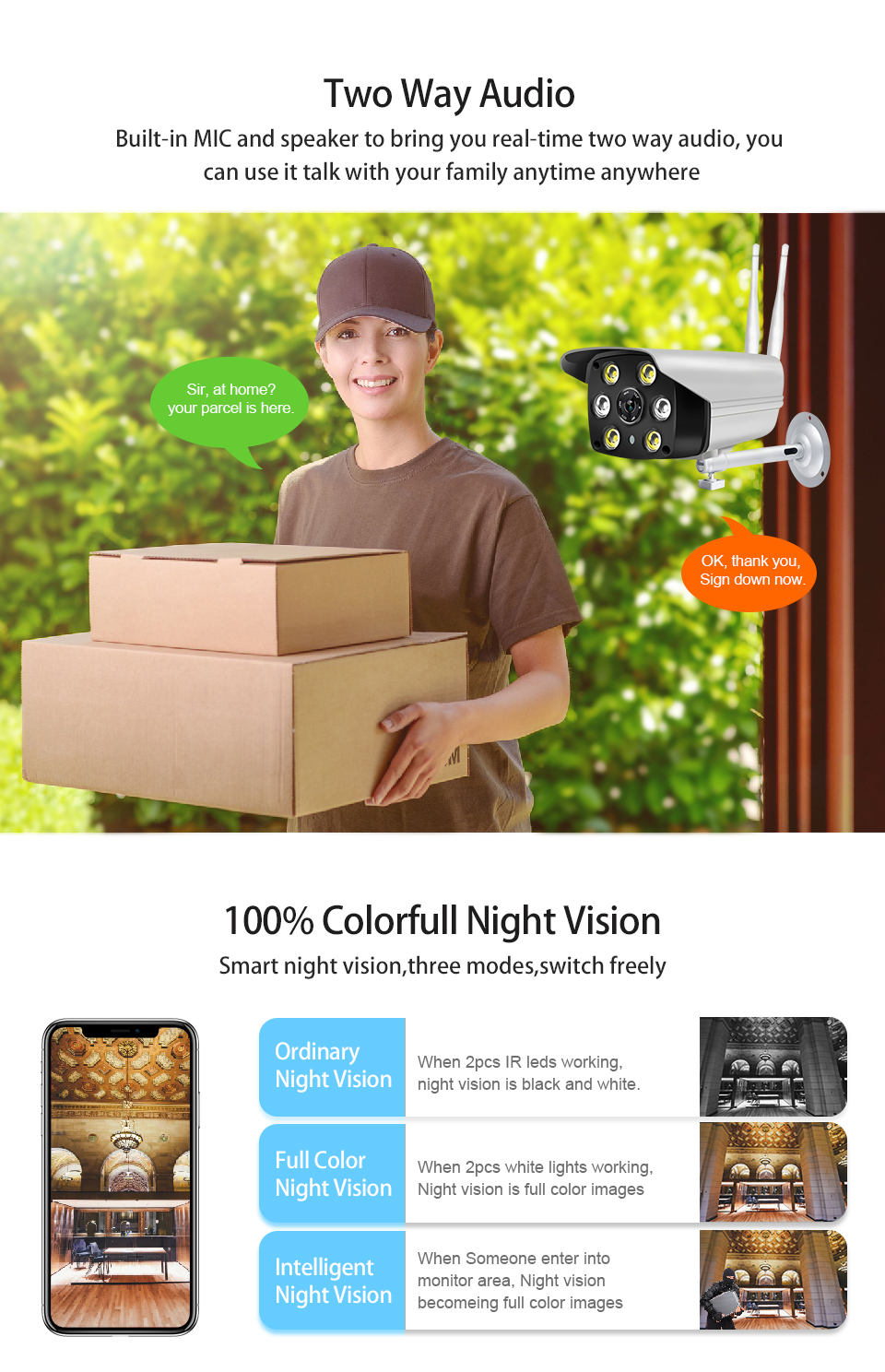 Loosafe waterproof ip66 bullet outdoor infrared night vision full hd 1080p security cctv camera wireless