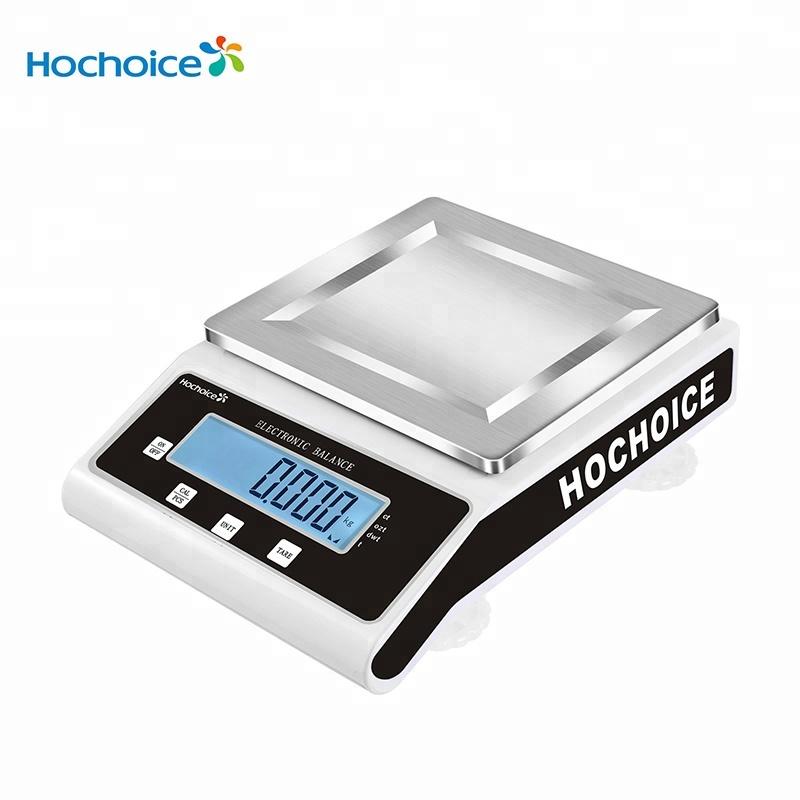 Hochoice 0.001g 100g 200g 300g 500g الإلكترونية analyitcal ميزان الدقة الرقمية مقياس المختبر مع واحد قِدر مستدير