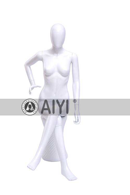 Clear Plastic Sitting Female Mannequin Mold