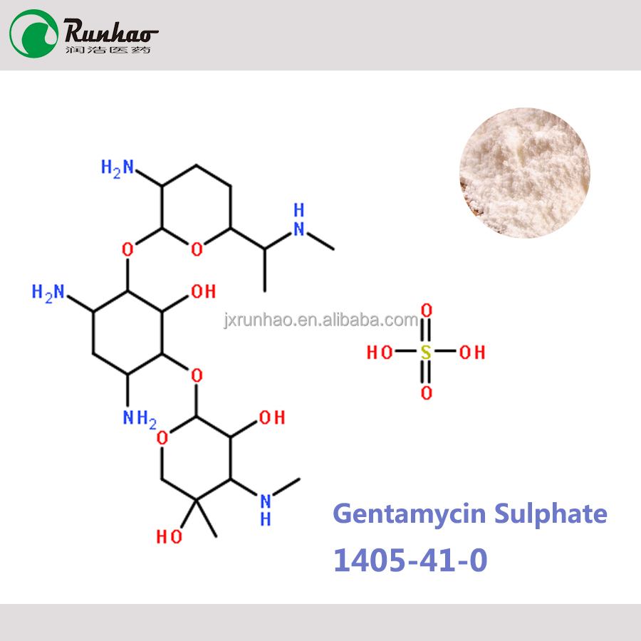 China medicine drug Pharmaceutical raw material antibiotics High purity 99% Gentamycin sulphate powder