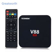 V88 mini II TV Box RK3229 SCISHION <span class=keywords><strong>4</strong></span> Inti Android 6.0 BT <span class=keywords><strong>4</strong></span>.0 Set-Top Box 2 GB 8 GB <span class=keywords><strong>4</strong></span> K H.265 Smart <span class=keywords><strong>Media</strong></span> <span class=keywords><strong>Player</strong></span>