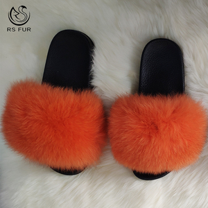 Wonderful teenage girl flip flops fur baby slides furry slippers for kids
