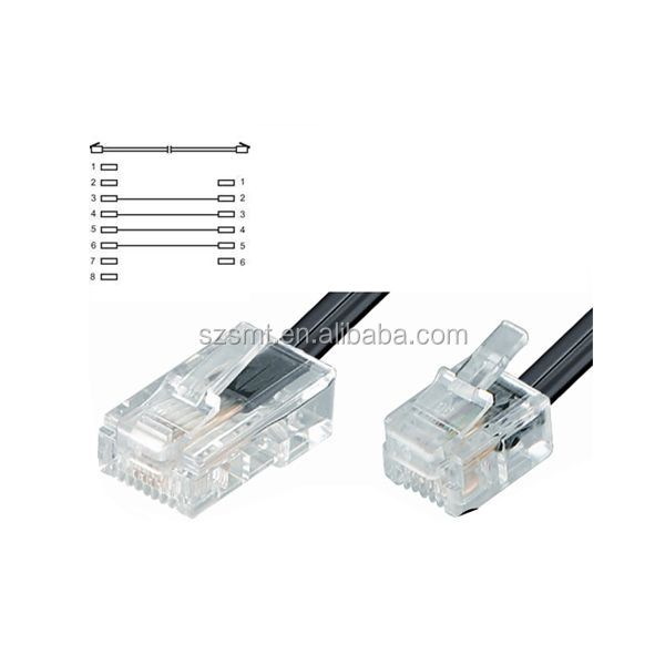telephone cable rj9 male to rj45 male rj9 to rj45 telephone cord rj9 4p4c to rj45 8p4c buy rj9. Black Bedroom Furniture Sets. Home Design Ideas