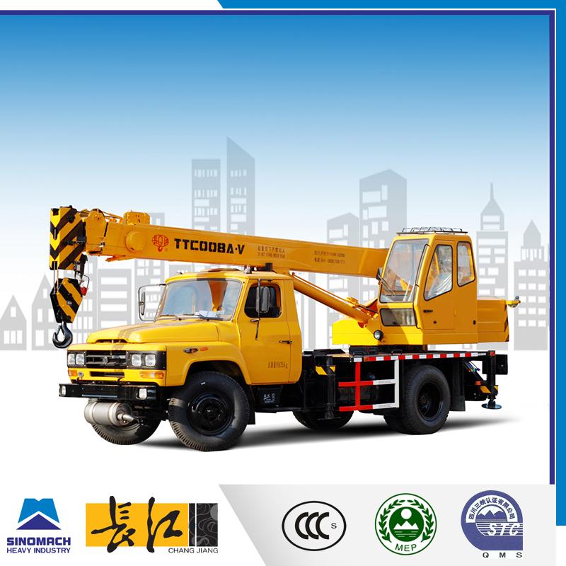 China Small Hydraulic Mobile Crane 8 Ton