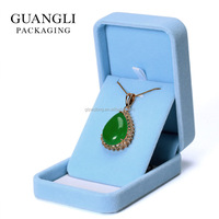 best selling products of Pendant box in blue color velvet gift boxes
