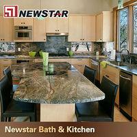 green kitchen rainforest granite countertops