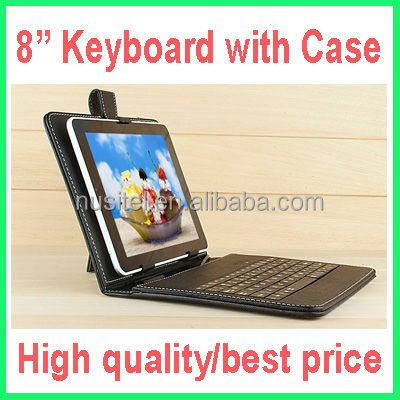 Cheapest !! Good quality multi-colors Micro USB 8 inch Tablet Keyboard with case