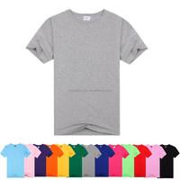 Sublimation Printed Men 100% Cotton Gray T Shirt