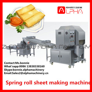 Hot sale spring roll pastry making machine/small samosa dumpling pastry sheets maker