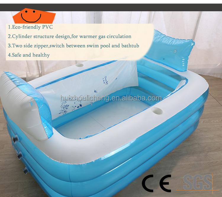 qualit pliage portable spa chaude grand en plastique gonflable baignoire pour adulte piscines. Black Bedroom Furniture Sets. Home Design Ideas
