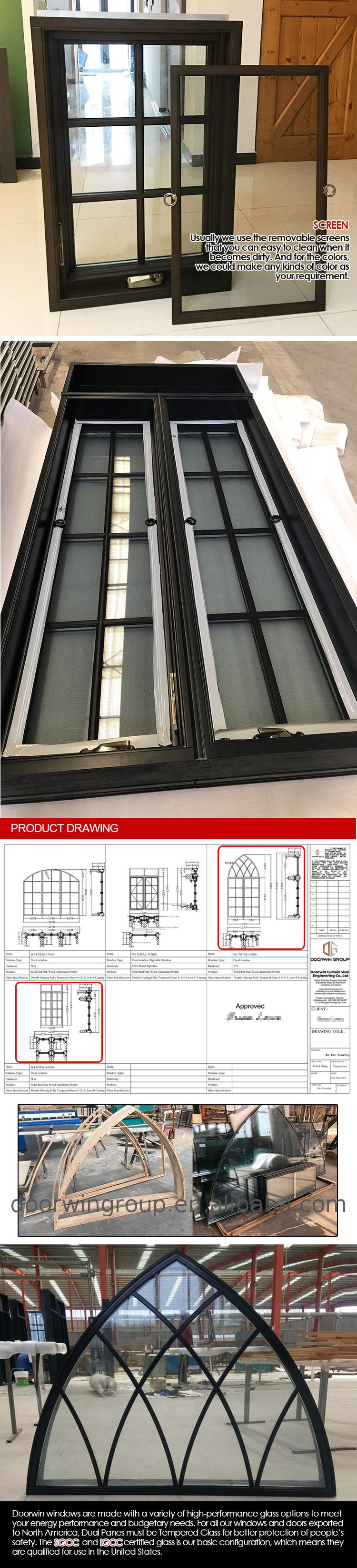 California hot sales NFRC NAMI certified alu-wood Crank out windows