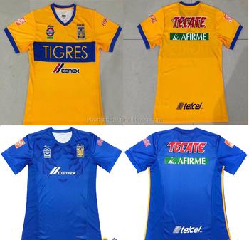 Top Thailand Quality 2017 2018 Tigres Soccer Jersey - Buy Tigres ... 35df942091fb