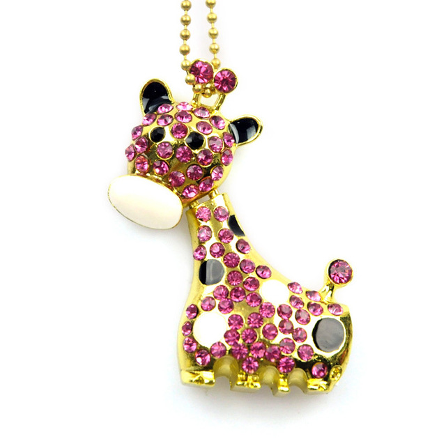 Crystal Animal Herten Memory Stick Giraffe Vorm Usb Flash Drive